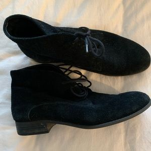 Franco Sarto Suede Lace Up Shoes